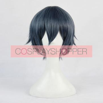 Blue 35cm Ranpo Kitan: Game of Laplace Kobayashi Cosplay Wig