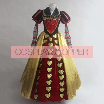 Alice in Wonderland Red Queen Cosplay Costume