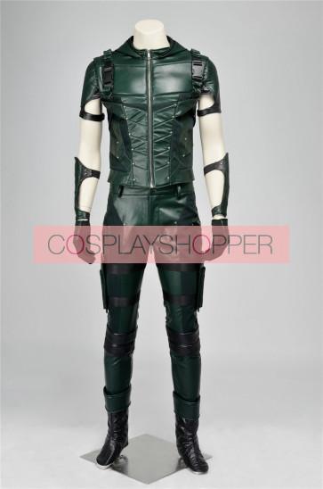 Arrow 4 Oliver Queen Green Arrow Cosplay Costume
