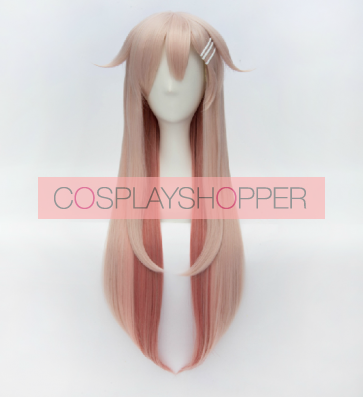 Pink 80cm Kantai Collection Yudachi Cosplay Wig
