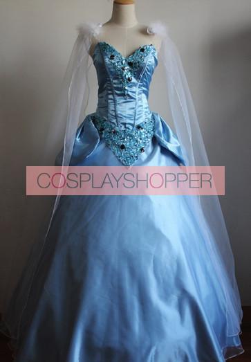 Princess Cinderella Dress Cosplay Costume