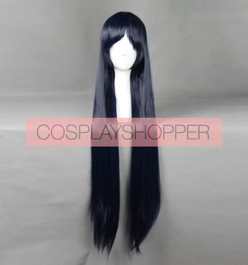 Blue 100cm Shimoneta: A Boring World Where the Concept of Dirty Jokes Doesn't Exist Shimoseka Ayame Kajou Cosplay Wig