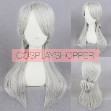 Silver 45cm The Witcher 3: Wild Hunt Ciri Cosplay Wig