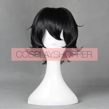 Black 30cm Ranpo Kitan: Game of Laplace Akechi Cosplay Wig