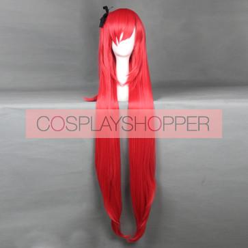 Red 120cm Sky Wizards Academy Misora Whitale Cosplay Wig