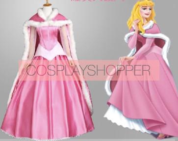 Sleeping Beauty Princess Aurora Dress Cosplay Costume With Cape