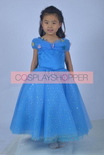 Cinderella Princess Children Cosplay Dress 2015 Edition