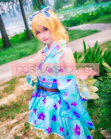 Love Live! Eli Ayase September Ver. Kimono Cosplay Costume