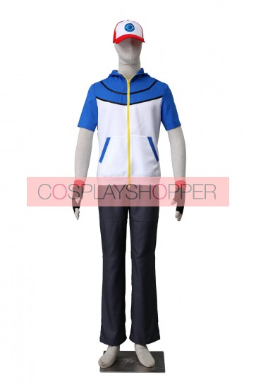 Pokemon Pocket Monsters Ash Katchum Suit Cosplay Costume
