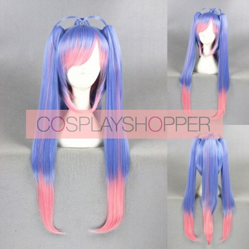 Blue and Pink 70cm Kantai Collection E19 Cosplay Wig