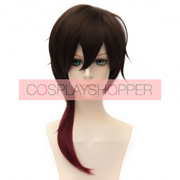 Brown and Red 45cm Touken Ranbu Ookurikara Cosplay Wig