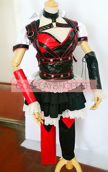 Batman Arkham Asylum Harley Quinn Cosplay Costume