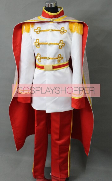 Cinderella Prince Charming Cosplay Costume - White Edition