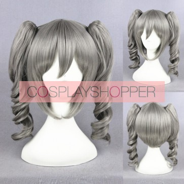 Grey 40cm The Idolmaster Cinderella Girls Ranko Kanzaki Cosplay Wig