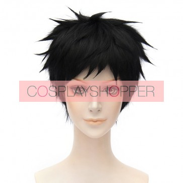 Black 30cm Touken Ranbu Atsushi Toushirou Cosplay Wig