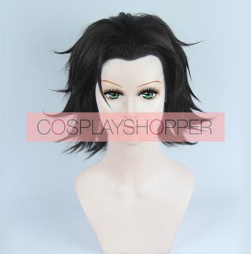 Black 30cm Bakumatsu Rock Toshizo Hijikata Cosplay Wig