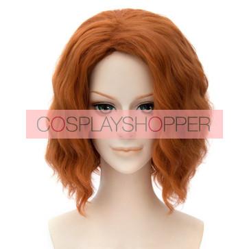 Orange 30cm The Avengers: Age of Ultron Black Widow Natasha Romanoff Cosplay Wig