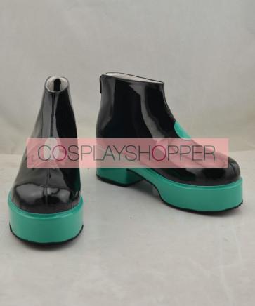 Vocaloid Miku Green Platform Cosplay Shoes
