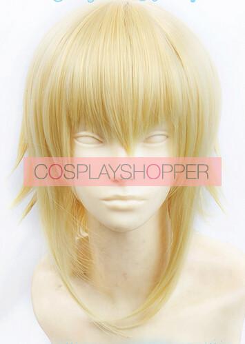Gold BlazBlue Jin Kisaragi Cosplay Wig