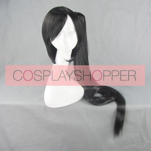 Black BlazBlue Litchi Faye-Ling Cosplay Wig