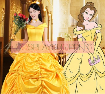 Beauty and the Beast Belle Dress Cosplay Costume