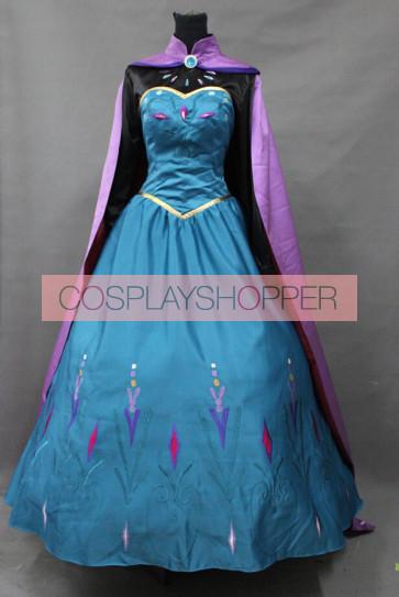 Frozen Queen Elsa Dress Cosplay Costume