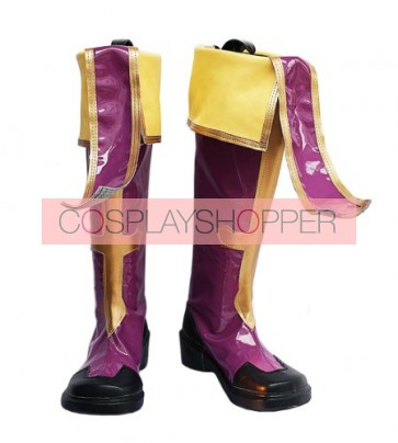 Blazblue Jin Kisaragi Purple Cosplay Boots