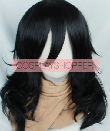 Black 50cm My Hero Academia Shota Aizawa Eraser Head Cosplay Wig