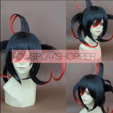 Black and Red 50cm Laughing Under the Clouds Tenka Kumo Cosplay Wig