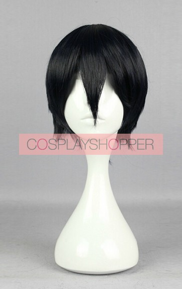 Black 30cm Laughing Under the Clouds Chutaro Kumo Cosplay Wig