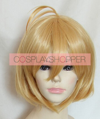 "Gold 40cm Cross Ange: Rondo of Angels and Dragons Angelise Ikaruga ""Ange"" Misurugi Cosplay Wig"