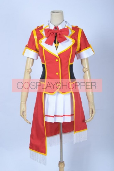 Love Live! SR Card Eri Ayase Red Cosplay Costume