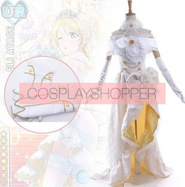 Love Live! UR Eli Ayase Wedding Dress Cosplay Costume