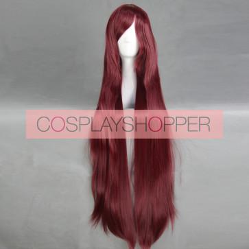 Red 100cm Neon Genesis Evangelion Mari Illustrious Makinami Cosplay Wig