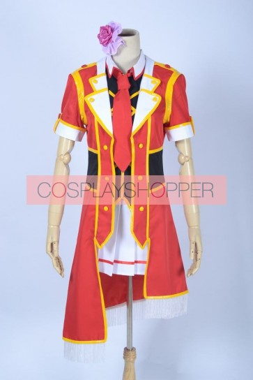 Love Live! SR Card Maki Nishikino Red Cosplay Costume