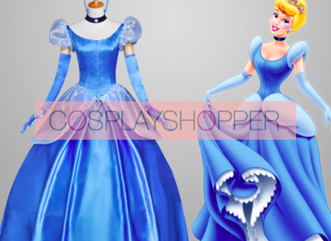 Princess Cinderella Blue Dress Costume