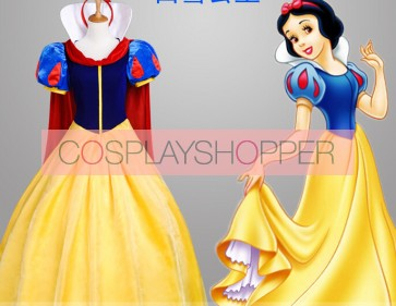 Deluxe Princess Snow White Dress Cosplay Costume