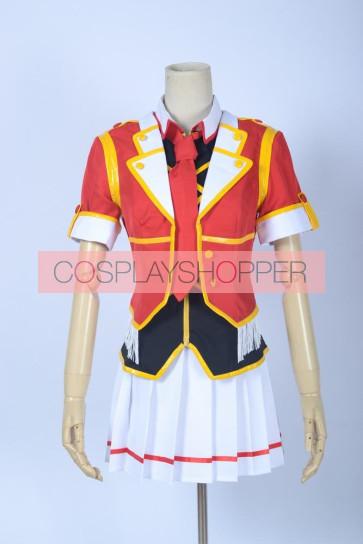Love Live! SR Card Rin Hoshizora Red Cosplay Costume