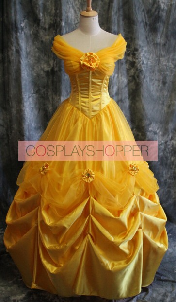 Beauty and the Beast Princess Belle Dress Cosplay Costume - E