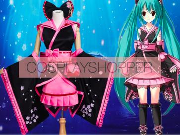 Vocaloid Hatsune Miku Sakura Kimono Cosplay Costume