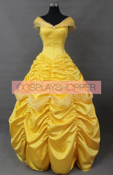 Beauty and the Beast Princess Belle Dress Cosplay Costume - F