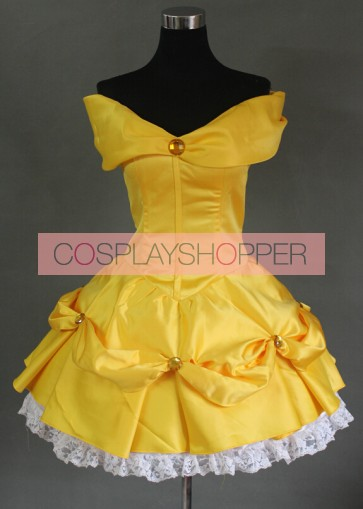 Beauty and the Beast Princess Belle Dress Cosplay Costume - G