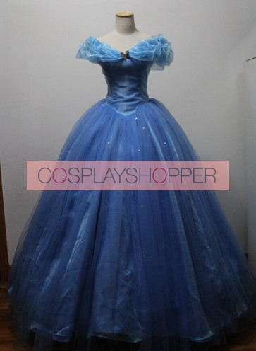 Movie Cinderella Princess Dress Cosplay Costume