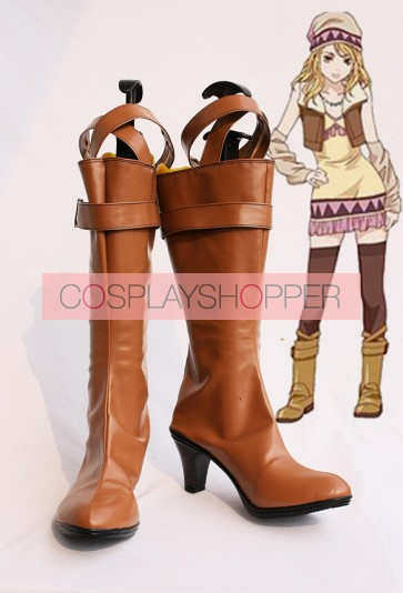 Tiger & Bunny Karina Lyle Blue Rose Brown Cosplay Boots