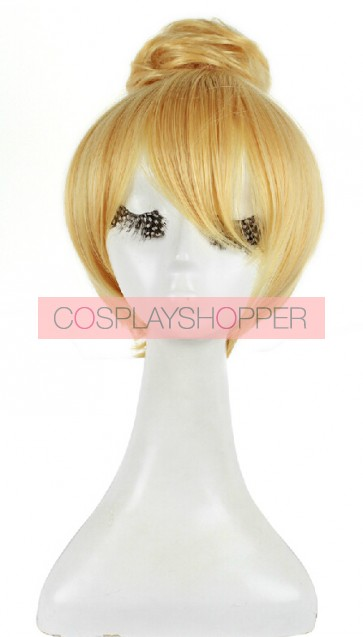 Golden 30cm Tinker Bell and the Pirate Fairy Tinker Bell Cosplay Wig