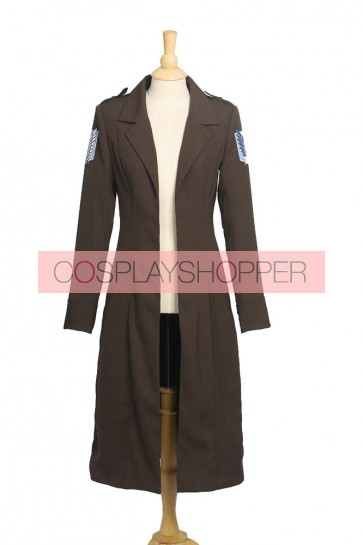 Attack on Titan Shingeki on Kyojin Eren Jaeger Rivaille Long Coat Cosplay Costume