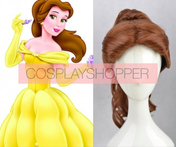 Brown Beauty and the Beast Belle Cosplay Wig