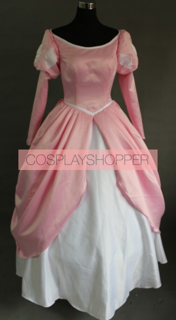 The Little Mermaid Princess Ariel Pink Dress Cosplay Costume