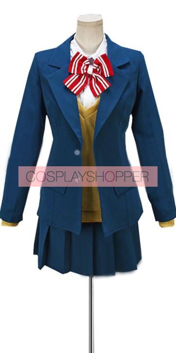 Wolf Girl and Black Prince Erika Shinohara School Uniform Cosplay Costume