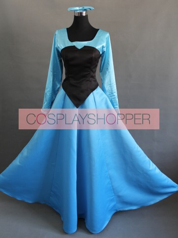 The Little Mermaid Princess Ariel Blue Dress Cosplay Costume
